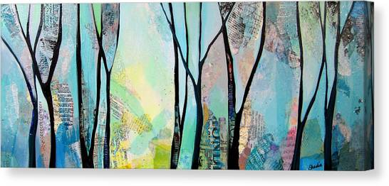 Collage Canvas Print - Winter Wanderings I by Shadia Derbyshire