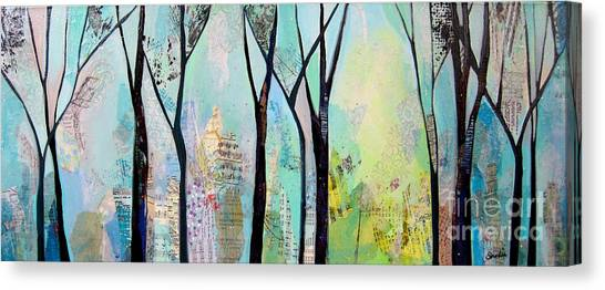 Maine Winter Canvas Print - Winter Wanderings II by Shadia Derbyshire
