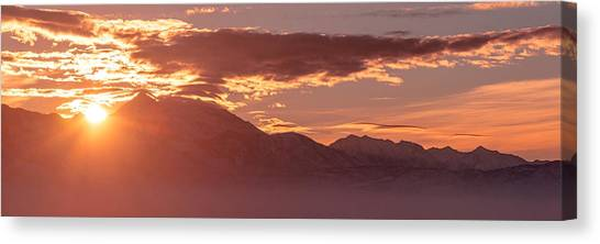 Salt Canvas Print - Winter Wasatch Daybreak by Chad Dutson