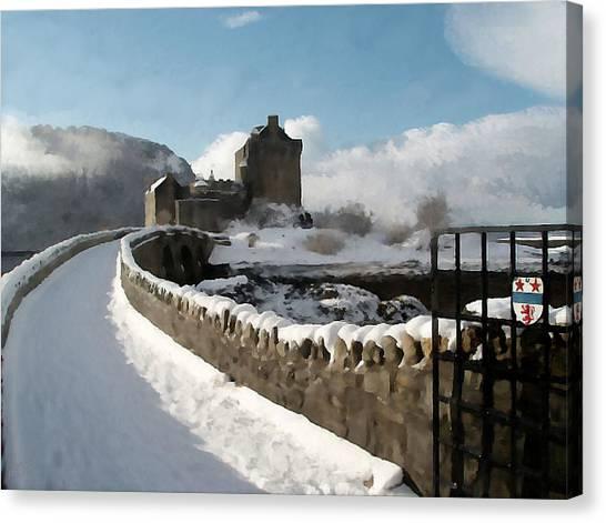 Winter Wonder Walkway Canvas Print