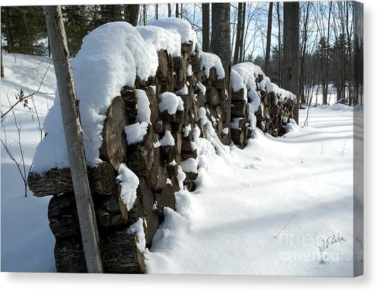 Winter Wood Supply Canvas Print