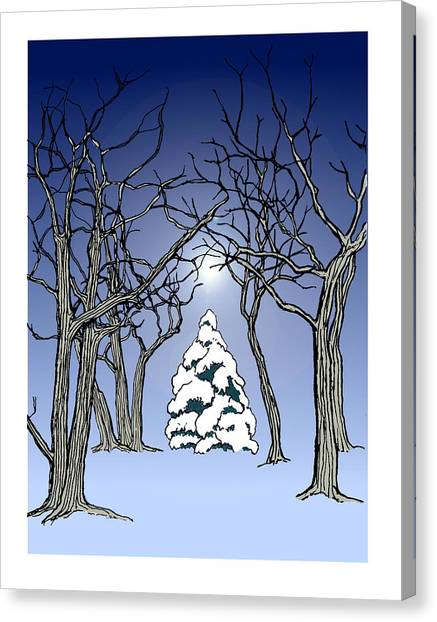 Winter Woods 3 Canvas Print