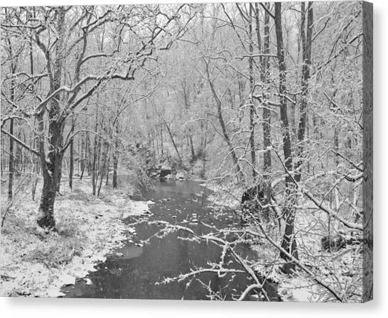 Winterlake Canvas Print by Nancy Edwards