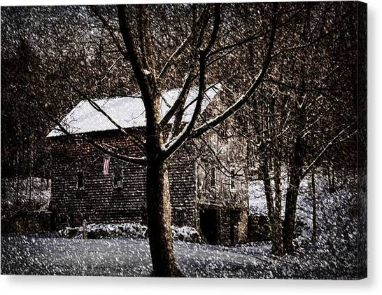 Winters At The Farm Canvas Print