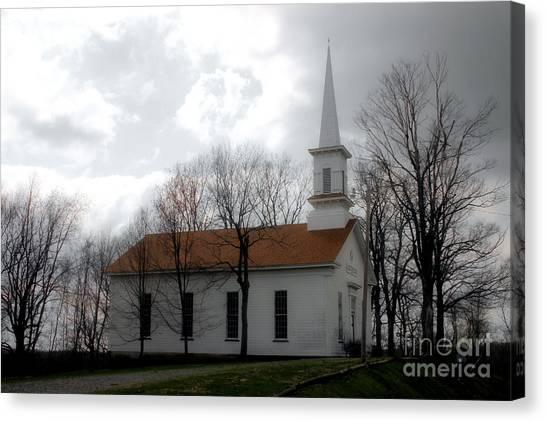 Winter's Church Canvas Print