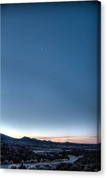 Winter's Dawn Over Santa Fe No.1 Canvas Print