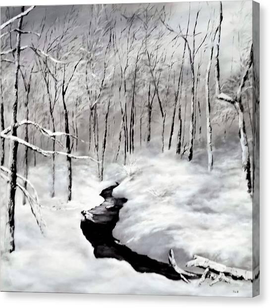 Winters Glory Canvas Print by Jennifer  Blenkinsopp