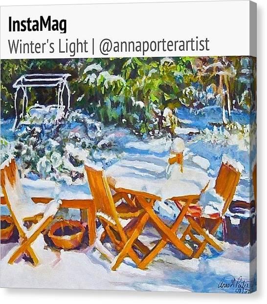 Swing Canvas Print - Winter's Light by Anna Porter