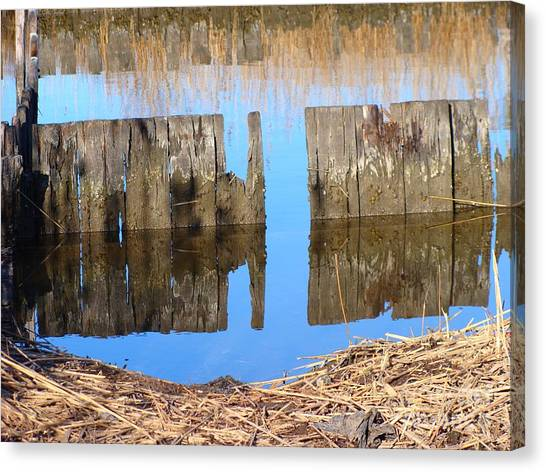 Winters Reflections Canvas Print by Stacie Siemsen