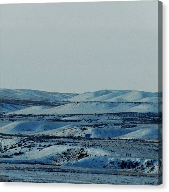 Trucks Canvas Print - Winterscape by Kelli Stowe