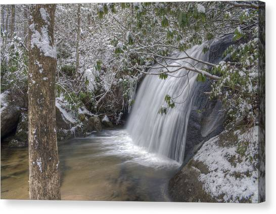 Wintery Frolictown Falls Canvas Print by Stephen Gray