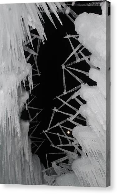 Wintery Ice Farming  Canvas Print
