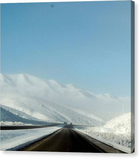 Interstates Canvas Print - Wintery Road by Kelli Stowe