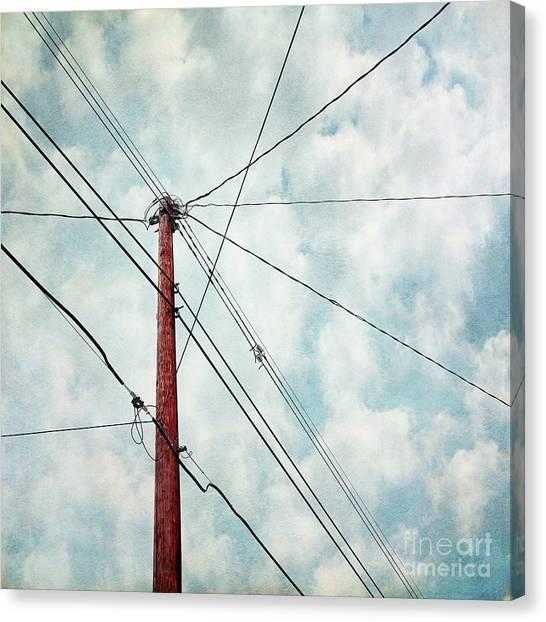 Utility Canvas Print - Wired by Priska Wettstein