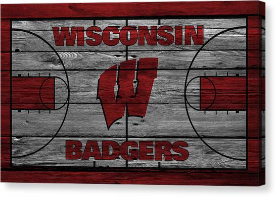 Ball State University Canvas Print - Wisconsin Badger by Joe Hamilton