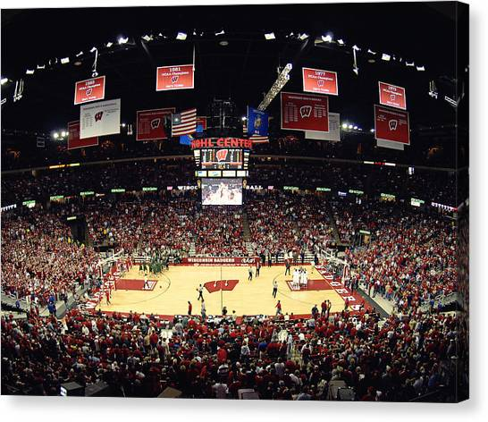 Big Ten Canvas Print - Wisconsin Badgers Kohl Center by Replay Photos