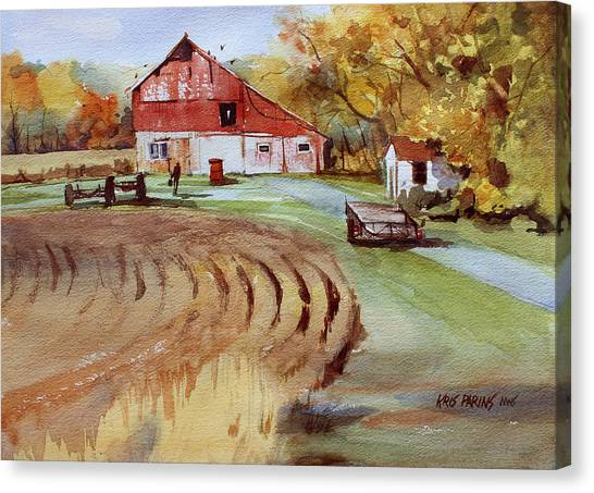 Wisconsin Barn Canvas Print by Kris Parins
