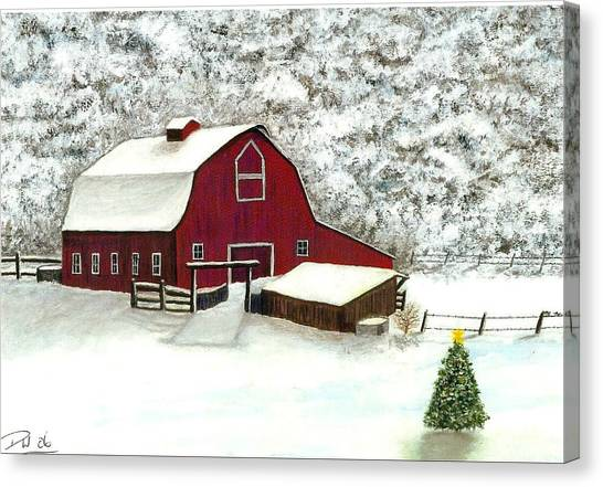 Wisconsin Christmas Canvas Print