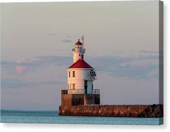 Freshwater Canvas Print - Wisconsin Point Lighthouse by Chuck Haney