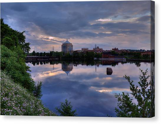 Wisconsin River Reflection Canvas Print