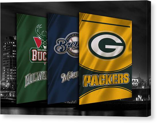 Milwaukee Brewers Canvas Print - Wisconsin Sports Teams by Joe Hamilton