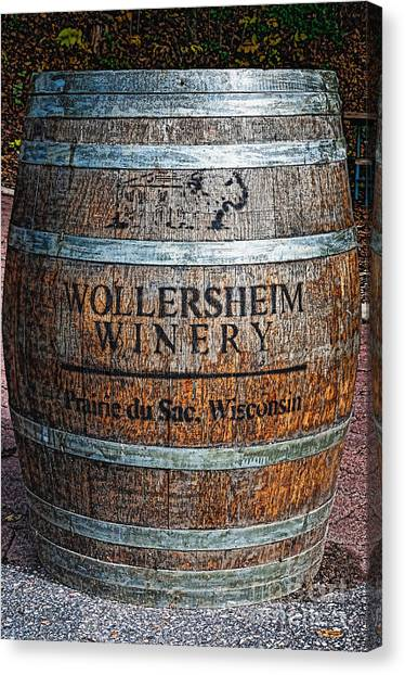 Wisconsin Wine Barrel Canvas Print
