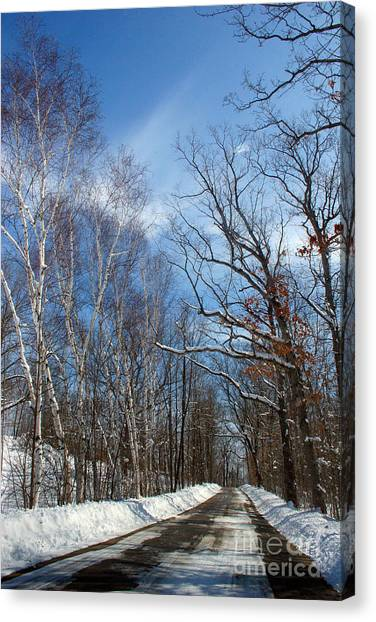 Wisconsin Winter Road Canvas Print