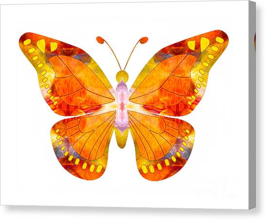 Canvas Print featuring the digital art Wisdom And Flight Abstract Butterfly Art By Omaste Witkowski by Omaste Witkowski