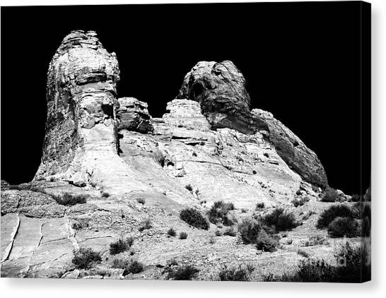 Wise Men Of The Desert Canvas Print by John Rizzuto