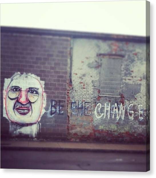 Famous Artists Canvas Print - Wise Words Wednesday. #ghandi #change by Jenna Luehrsen