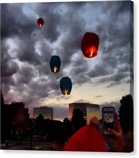 Hot Air Balloons Canvas Print - Away by Peyton  Turbeville