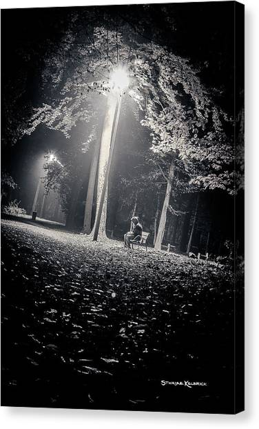 Canvas Print featuring the photograph Wish You Were Alone by Stwayne Keubrick