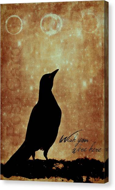 Sadness Canvas Print - Wish You Were Here 1 by Carol Leigh