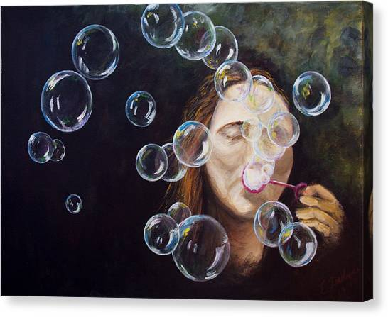 Wishing Bubbles Canvas Print