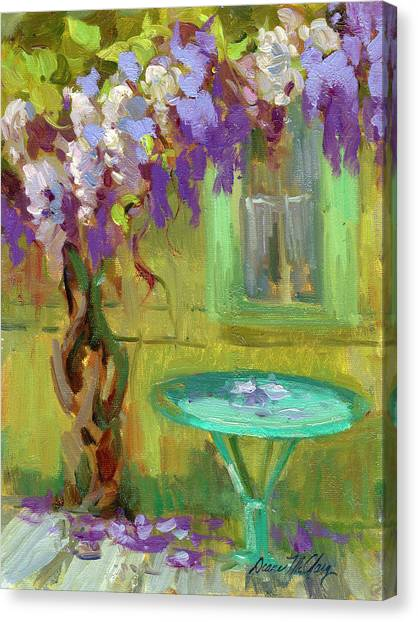 Wisteria At Hotel Baudy Canvas Print