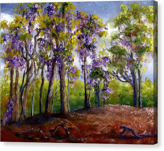 Wisteria In Louisiana Trees Canvas Print