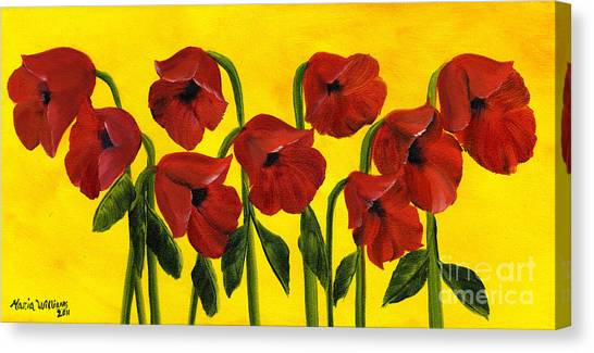 Wistful Poppies Canvas Print by Maria Williams