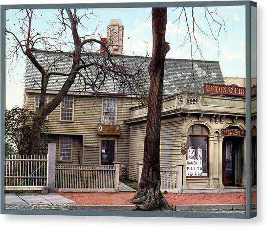 Witch House Canvas Print by Library Of Congress