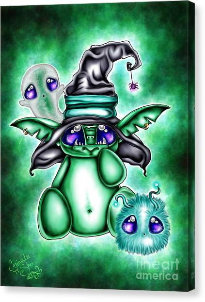 Witch's Familiars Canvas Print by Coriander  Shea