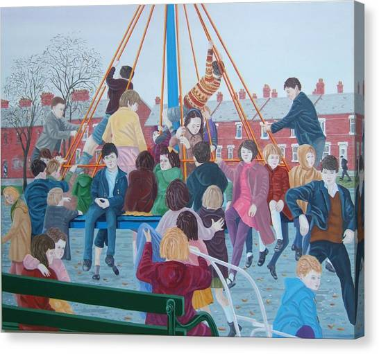Canvas Print - Witchs Hat May Pole by Michael McEvoy