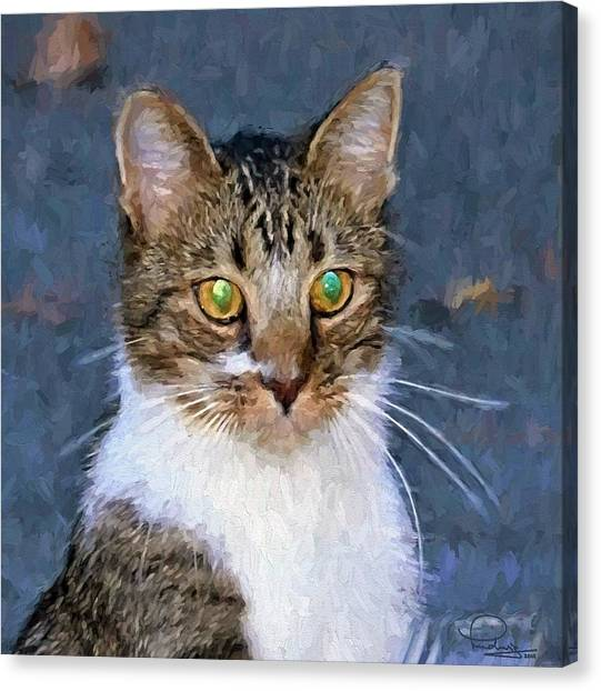 With Eyes On Canvas Print