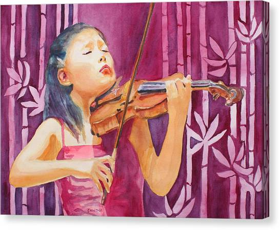 Violins Canvas Print - With Feeling by Jenny Armitage