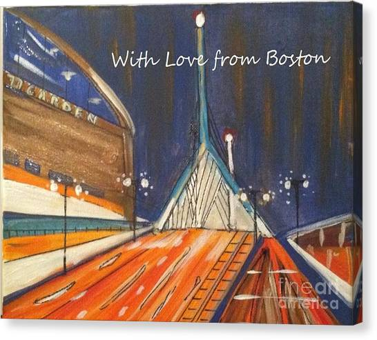 With Love From Boston Canvas Print