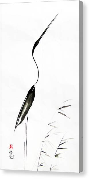 Egret Canvas Print - With My Head Held High by Oiyee At Oystudio