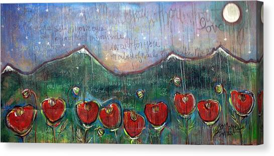 U2 Canvas Print - With Or Without You by Laurie Maves ART