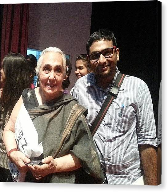 Professors Canvas Print - With #professor #romilathapar, An by Ankit Agrawal