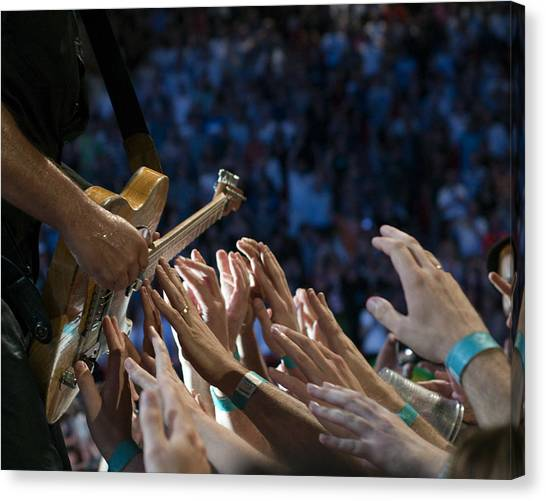 Bruce Springsteen Canvas Print - With These Hands by Jeff Ross