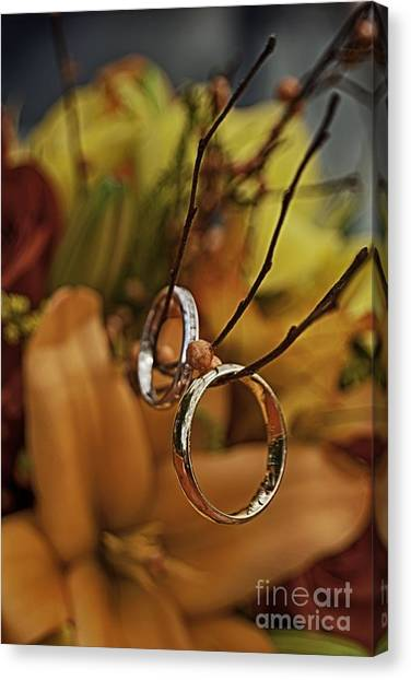 For Better Or For Worse Canvas Print - With This Ring by Patricia Trudell