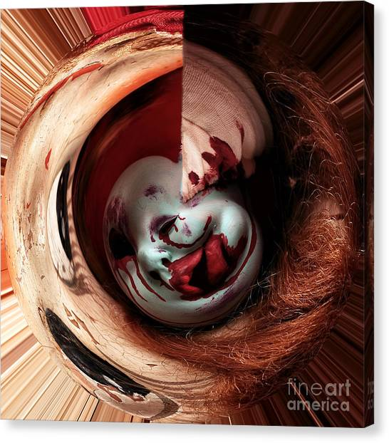 Creepy Canvas Print - Within Me by John Rizzuto