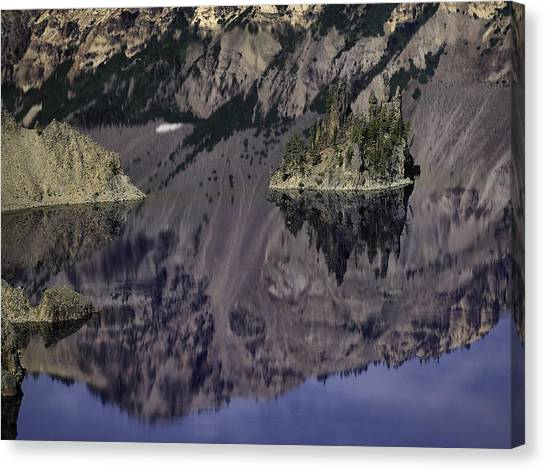Wizard Island At Crater Lake Canvas Print